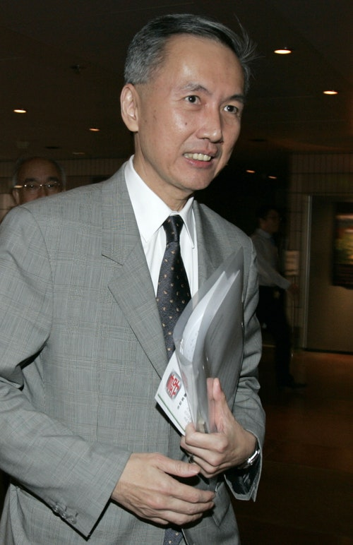 Ng, chairman of Sino Land Co. Ltd, attends a land auction in Hong Kong