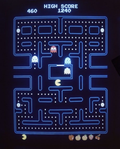 Namco製作的經典遊戲Pacman。Photo Credit : AP/達志影像