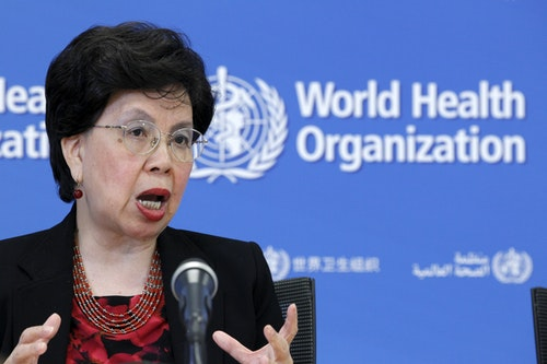 World Health Organization (WHO) Director-General Margaret Chan addresses the media on WHO's health emergency preparedness and response capacities in Geneva