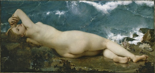 Paul Baudry, The Pearl and the Wave, 1862. Oil on canvas.