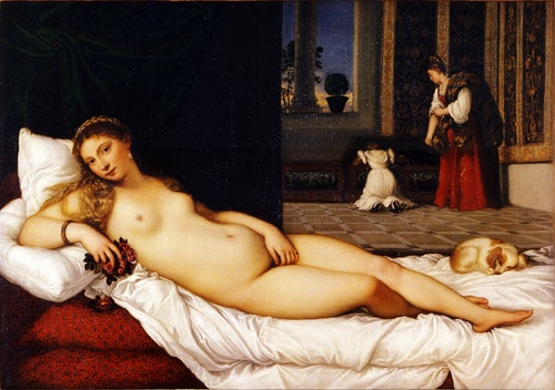 Titian, Venus of Urbino, 1538. Oil on canvas.