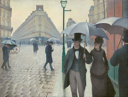 Gustave Caillebotte. Paris Street, Rainy Day, 1877. Art Institute of Chicago.