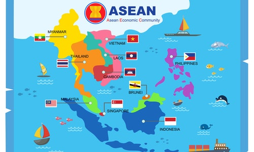 AEC asean economic community world map.vector illustration
